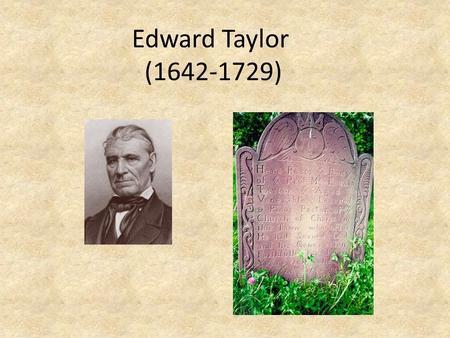 essays on edward taylor