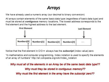 """In mathematics and computer programming, Index notation is used to specify the elements of an array of numbers"""