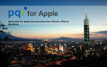 Specialist for Apple Accessories from iPhone, iPad to MacBook 1 for Apple.