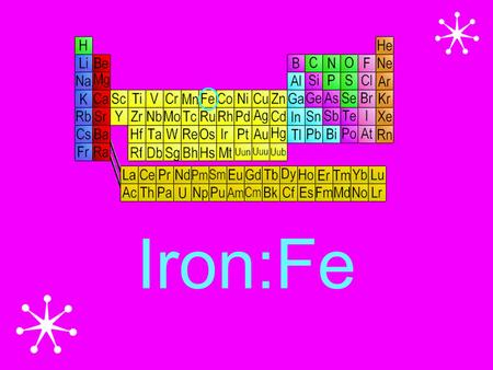 Iron:Fe. Structure of atom Isotopes, Ions Fe-57 Fe-58 Fe-59 Fe-60 Fe- 52 Fe- 54 Fe- 55 Fe- 56 + 2 ions.