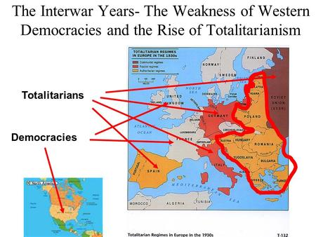 The Interwar Years- The Weakness of Western Democracies and the Rise of Totalitarianism Totalitarians Democracies.