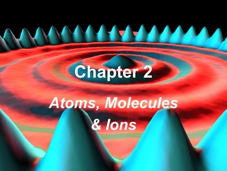 HSTMr.Watson Dr. S. M. Condren Atoms, Molecules & Ions Chapter 2 HST.