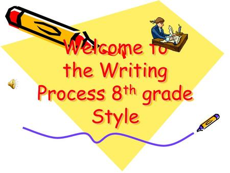 Welcome to the Writing Process 8 th grade Style Prewriting Hatching new ideas. SOURCES OF INSPIRATION - How do I get ideas in the first place? magazines/newspapers/periodicals/CD-ROM.