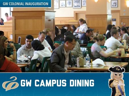 GW Campus Dining Principles Experience that is uniquely GW Variety & freedom of choice Cultivates student wellness Easy access to convenience Flexible.