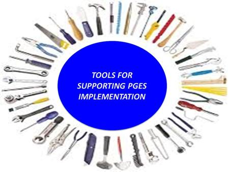 TPGES & PPGES Training Modules TOOLS FOR SUPPORTING PGES IMPLEMENTATION.