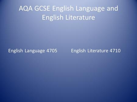 aqa english language coursework gcse English literature resources for aqa audio tutorials designed to aid coursework and revision, including poetry, modern prose, shakespeare and 19th century novel.