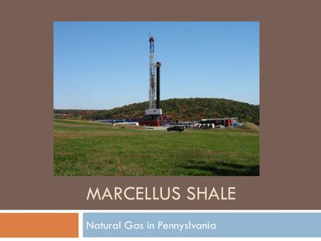 MARCELLUS SHALE Natural Gas in Pennyslvania. Where is Marcellus Shale in PA?  Marcellus Shale  The contour lines tell thickness of the shale. Pink =
