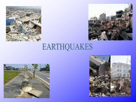 An Earthquake is a sudden shaking on the earth's surface caused by rock breakage deep within the earth.