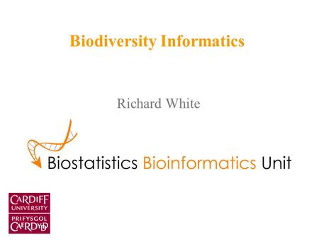 Richard White Biodiversity Informatics. What is biodiversity informatics? The preceding project, among others, shows that the challenges facing biodiversity.