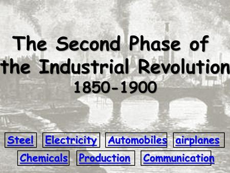 An analysis of the first phase of the industrial revolution