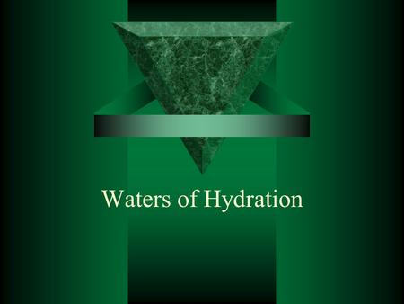 Waters of Hydration.  Some molecules exist in nature in relationship with water. Water just seems to be attracted to the molecules and it is possible.