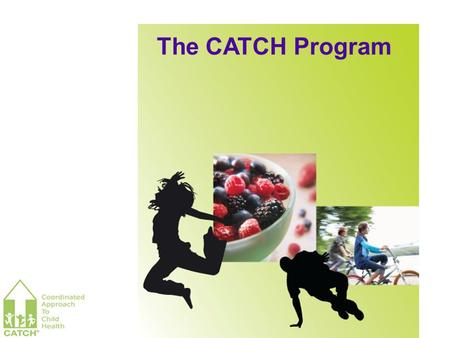 The CATCH Program. Behavior change is influenced or determined by the environment – because environments value and reward certain behaviors. CATCH Basic.