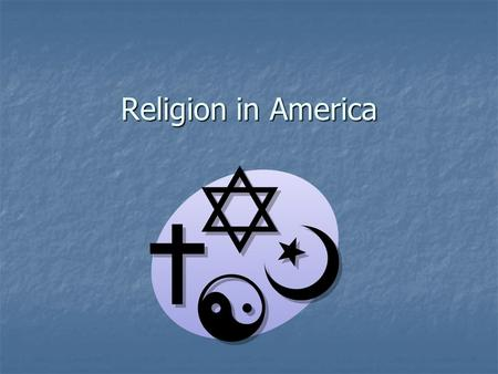 Religion in America. New <strong>World</strong> Experiment Depended on a population of educated people Depended on a population of educated people Social order depended.