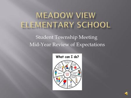 Student Township Meeting Mid-Year Review of Expectations.