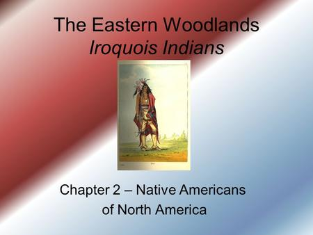 The Eastern Woodlands Iroquois Indians