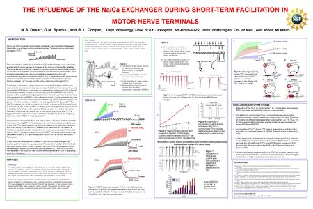THE INFLUENCE OF THE Na/Ca EXCHANGER DURING SHORT-TERM FACILITATION IN MOTOR NERVE TERMINALS M.S. Desai*, G.M. Sparks 1, and R. L. Cooper, Dept. of Biology,
