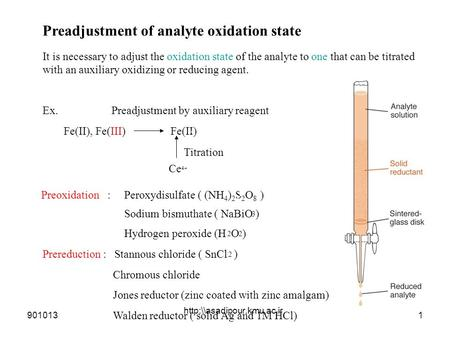 Preadjustment of analyte oxidation state