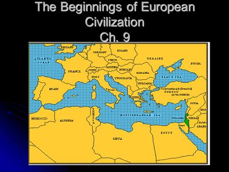 The Beginnings of European Civilization Ch. 9. Bull Leaping.