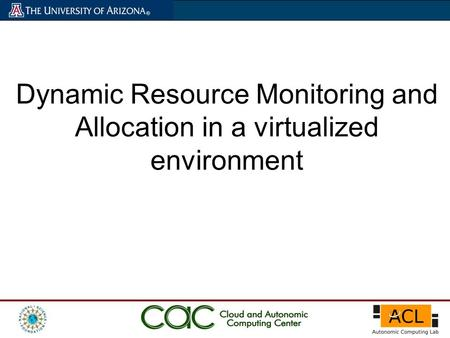 Dynamic Resource Monitoring and Allocation in a virtualized environment.