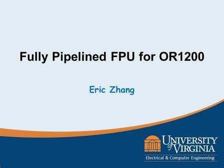 Fully Pipelined FPU for OR1200
