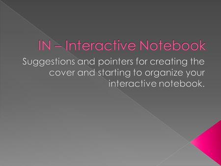  Get a composition book  Cover it creatively and colorfully  Title it with your course name and 'Numbers about Me'  Neatly write or print 10 interesting.
