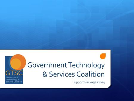 Government Technology & Services Coalition Support Packages 2014.