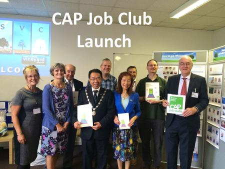 CAP Job Club Launch. Commissioning new VCUKI National Directors John and Debby Wright.