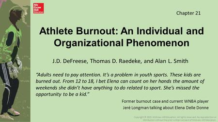 "Athlete Burnout: An Individual and Organizational Phenomenon ""Adults need to pay attention. It's a problem in youth sports. These kids are burned out."