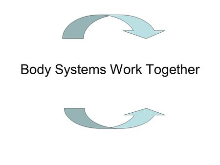 Body Systems Work Together. A. Homeostasis: a process where the body keeps things the same. 1.The senses in the nervous system receives feedback from.