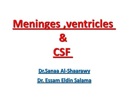 Meninges ,ventricles & CSF