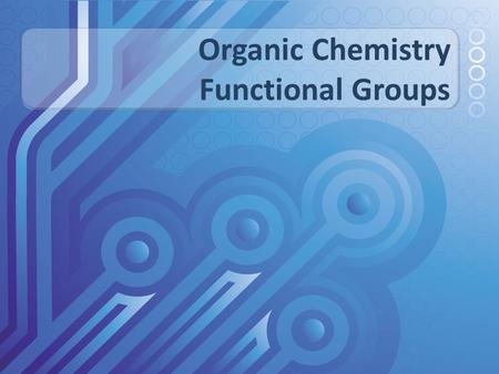Organic Chemistry Functional Groups. The hydrocarbon skeleton of an organic molecule is chemically inert. Most organic chemistry, then, involves the atoms.