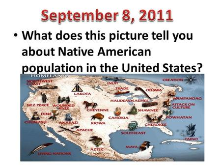 What does this picture tell you about Native American population in the United States?