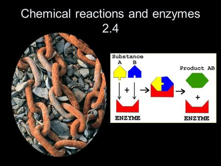 Chemical reactions and enzymes 2.4. Chemical reactions Change one substance into another Involve changes to the chemical bonds that hold molecules together.
