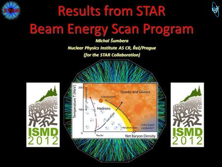 Results from STAR Beam Energy Scan Program Michal Šumbera Nuclear Physics Institute AS CR, Řež/Prague (for the STAR Collaboration) 1 M. Šumbera NPI ASCR.