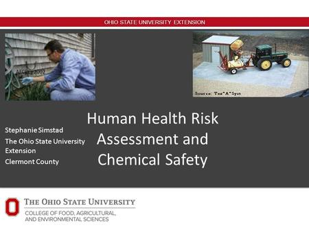Human Health Risk Assessment and Chemical Safety