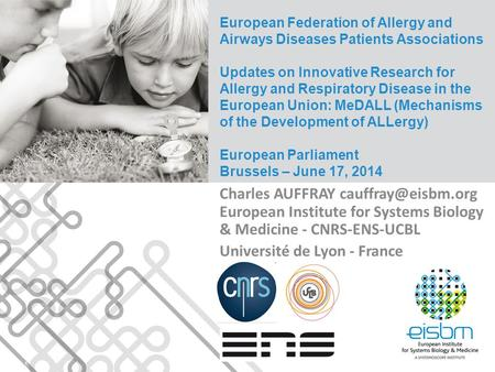 European Federation of Allergy and Airways Diseases Patients Associations Updates on Innovative Research for Allergy and Respiratory Disease in the European.