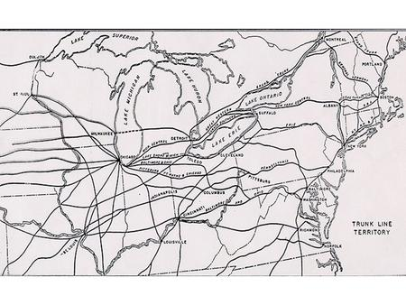 The Trunk Lines as Big Business 1. By the early to mid 1850s the great Trunk Line Railroads – the New York Central, the Pennsylvania, the B&O, and the.