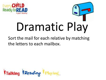Sort the mail for each relative by matching the letters to each mailbox. Dramatic Play.