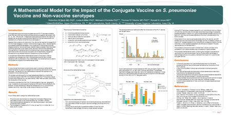 Created byInformation Design A Mathematical Model for the Impact of the Conjugate Vaccine on S. pneumoniae Vaccine and Non-vaccine serotypes Robertino.