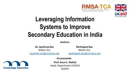 Leveraging Information Systems to Improve Secondary Education in India