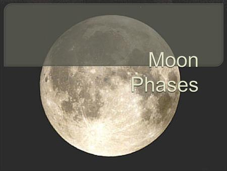 " The word month comes from ""Moon.""  Long ago, a month represented the time it took to complete one cycle of the changing Moon phases (~ 29.5 days)."