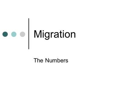 Migration The Numbers. Resources on Migration Office of Immigration StatisticsOffice of Immigration Statistics, (DHS) publishes the Yearbook of Immigration.
