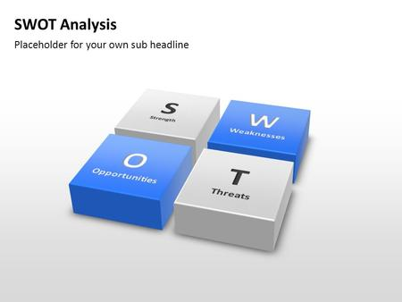 SWOT Analysis Placeholder for your own sub headline.