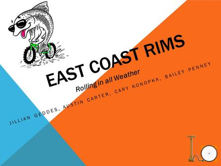 EAST COAST RIMS JILLIAN GEDDES, AUSTIN CARTER, CARY KONOPKA, BAILEY PENNEY Rolling in all Weather.