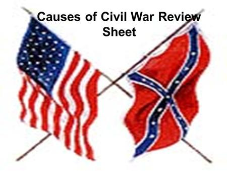 Causes of Civil War Review Sheet. 1. Abraham Lincoln 2. Stephen Douglas 3. John Brown 4.Henry Clay 5. Harriet B. Stowe 6. Jefferson Davis 7. Dred Scott.