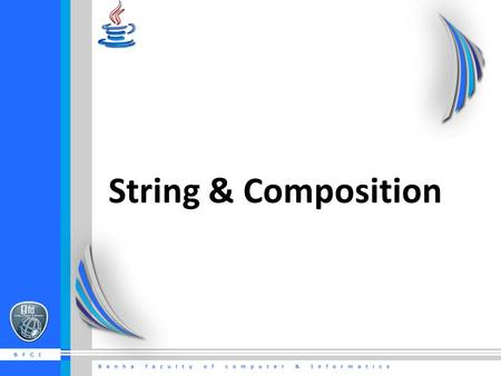 String & Composition. Agenda This keyword. String class. String operations. Composition.
