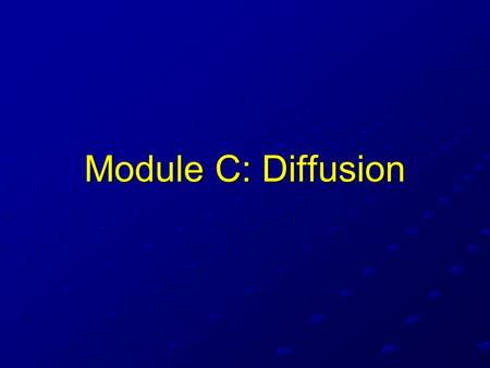Module C: Diffusion. The Concept of Total Compliance There are actually 3 compliances that we can consider: The compliance of the chest wall or thorax.
