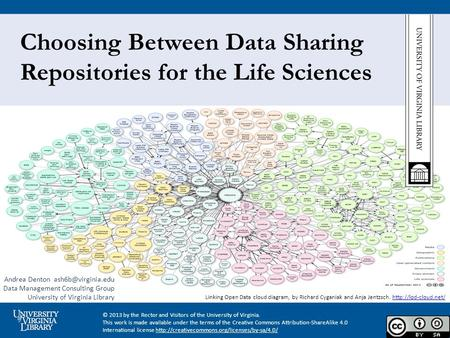Choosing Between Data Sharing Repositories for the Life Sciences Linking Open Data cloud diagram, by Richard Cyganiak and Anja Jentzsch.