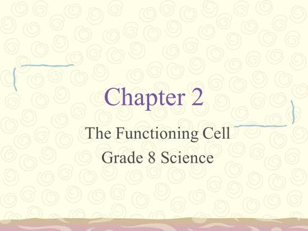 Chapter 2 The Functioning Cell Grade 8 Science. The Cell Organelles   Xmps&feature=related.