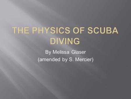By Melissa Glaser (amended by S. Mercier).  1878- Henry Fleuss invents a self contained underwater breathing unit.  1925- Yves Le Prieur releases a.